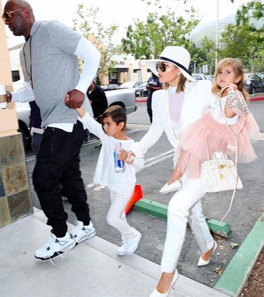 Khloe and Lamar celebrate Easter together