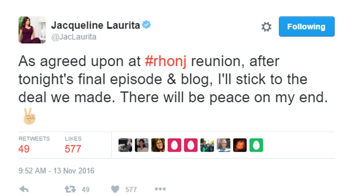 RHONJ Reunion: Jacqueline Laurita + Teresa Giudice Call a Truce