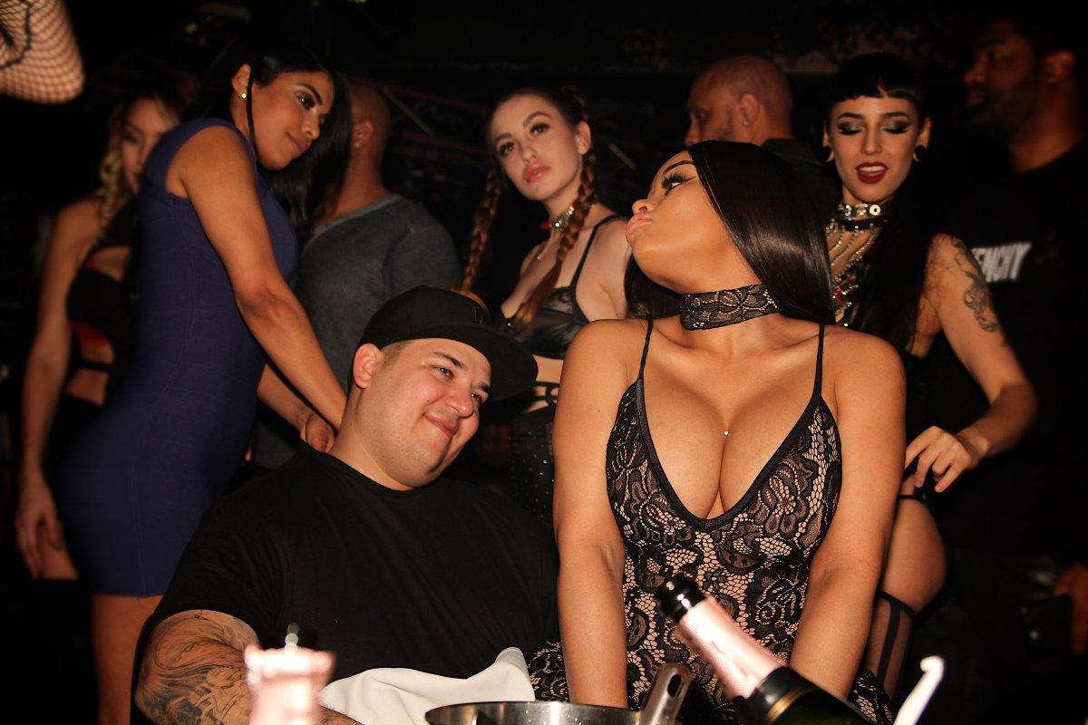Blac Chyna + Rob Kardashian Enjoy Club Life