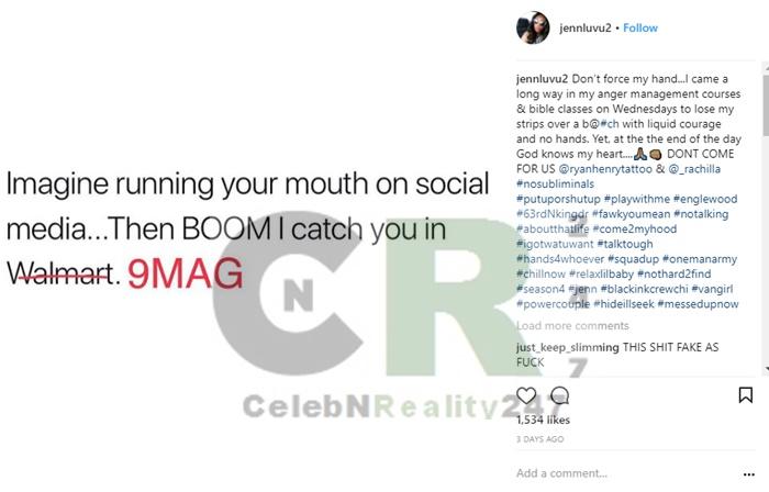 Van's Girlfriend Jenn Confirms Beef with Ryan and Rachel