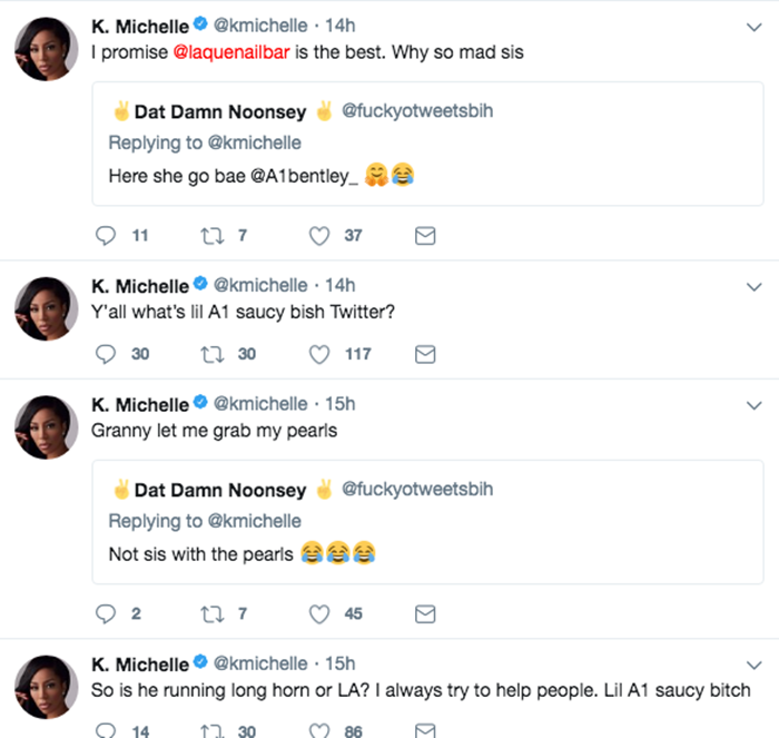 K Michelle Goes on Hostile Attack; Lyrica Anderson CLAPS BACK
