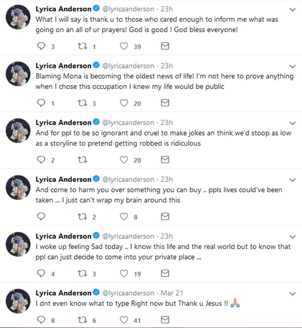 Lyrica Anderson Freaks Out After A1, Young Berg Robbery