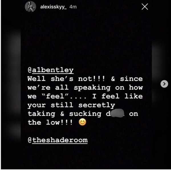 Alexis Skyy Drags A1 Bentley Saying Solo Is Her Baby Daddy
