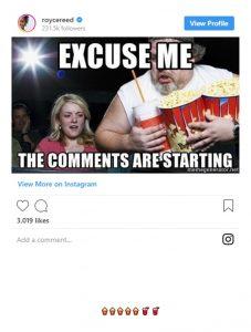 Royce Reed Eating Popcorn Watching Dwight Howard Scandal